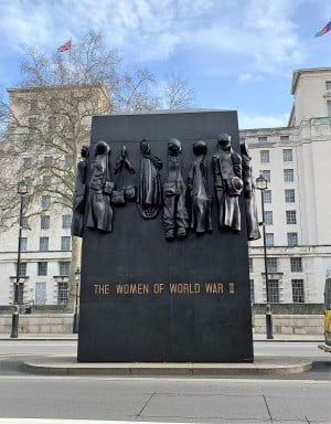 The monument to the women of World War II in Whitehall.