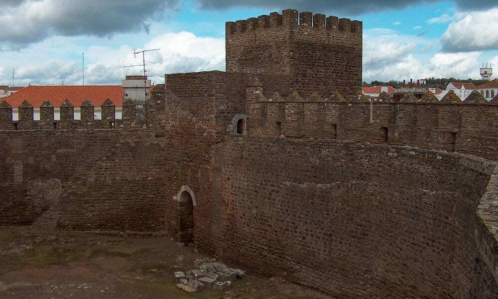 Inside the castle keep of Alandroal Castle.