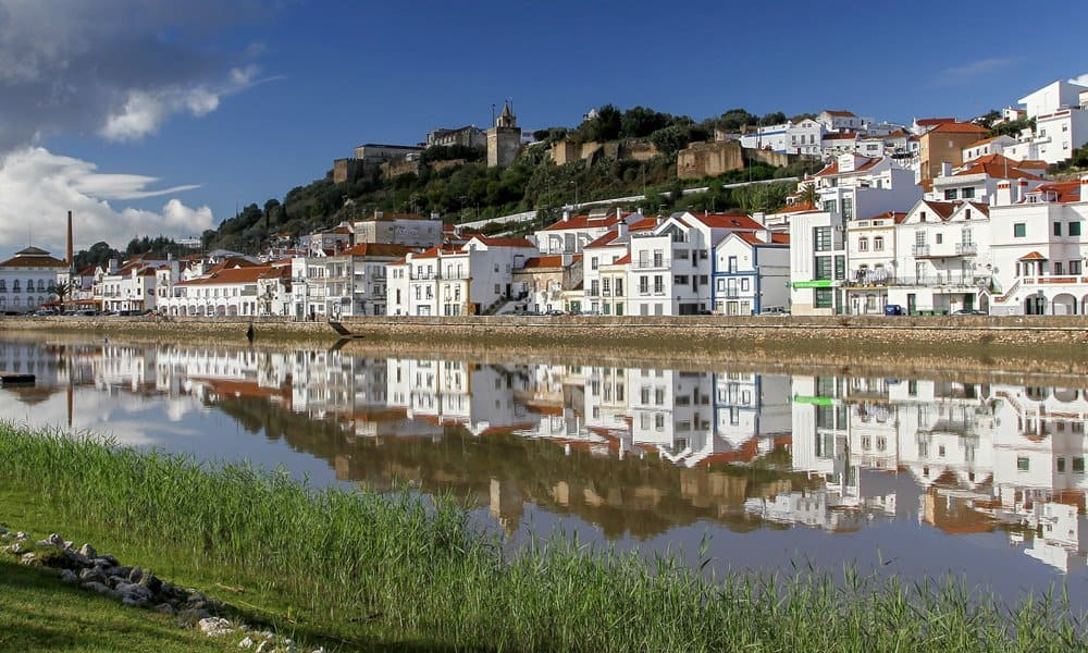 The Alcácer do Sal Castle overlooking the Sabo River.