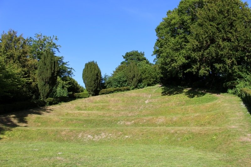 The terraces of the amphitheatre of the Moot.