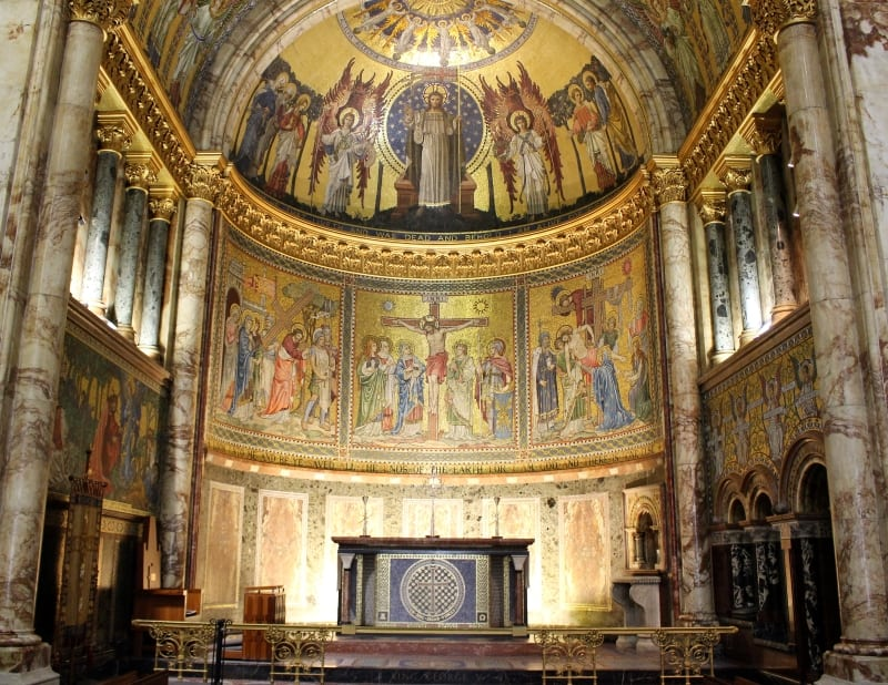 The apse in the Guards Chapel.