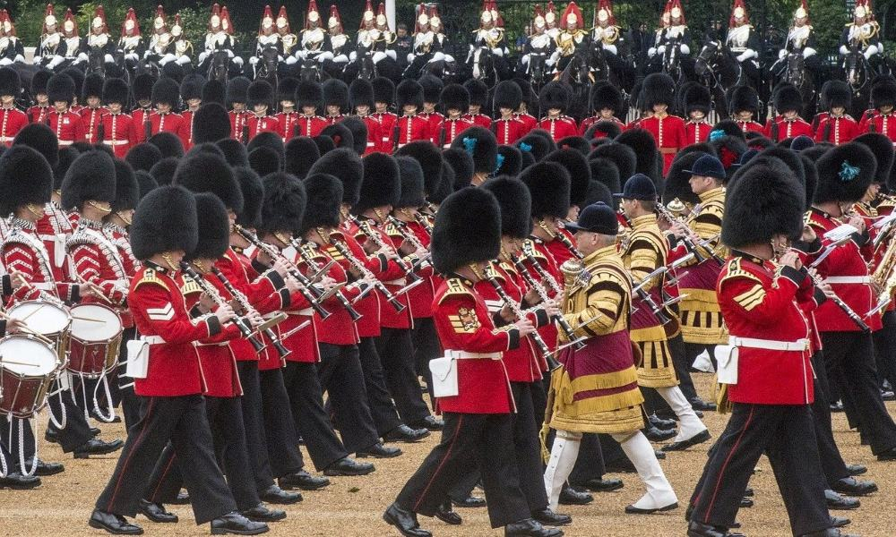 Guards marching on parade.