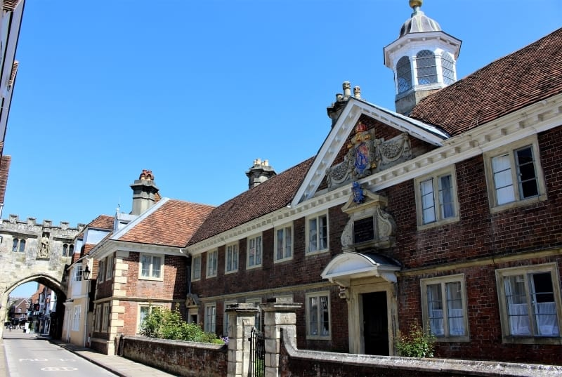 The exterior of the College of Matrons in Salisbury High Street.