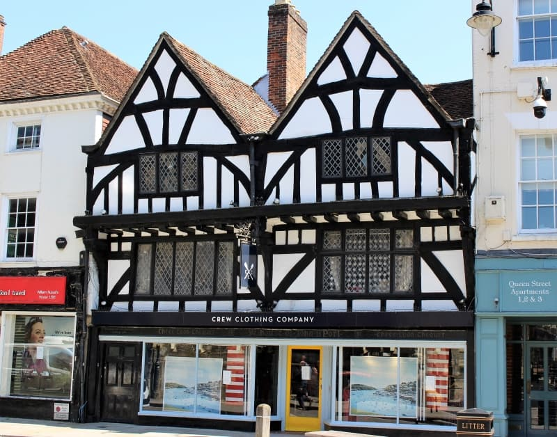 A medieval building on Queens Street in Salisbury.