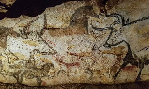 The so-called Hall of Bulls in Lascaux, France.