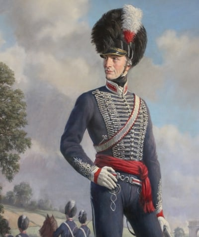 A painting of Le Marchant in the room named after him in Sandhurst,