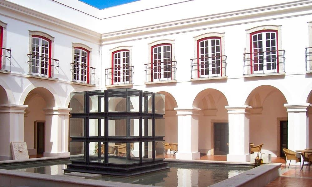 The courtyard of the Pousada de Alcácer do Sal, Portugal.