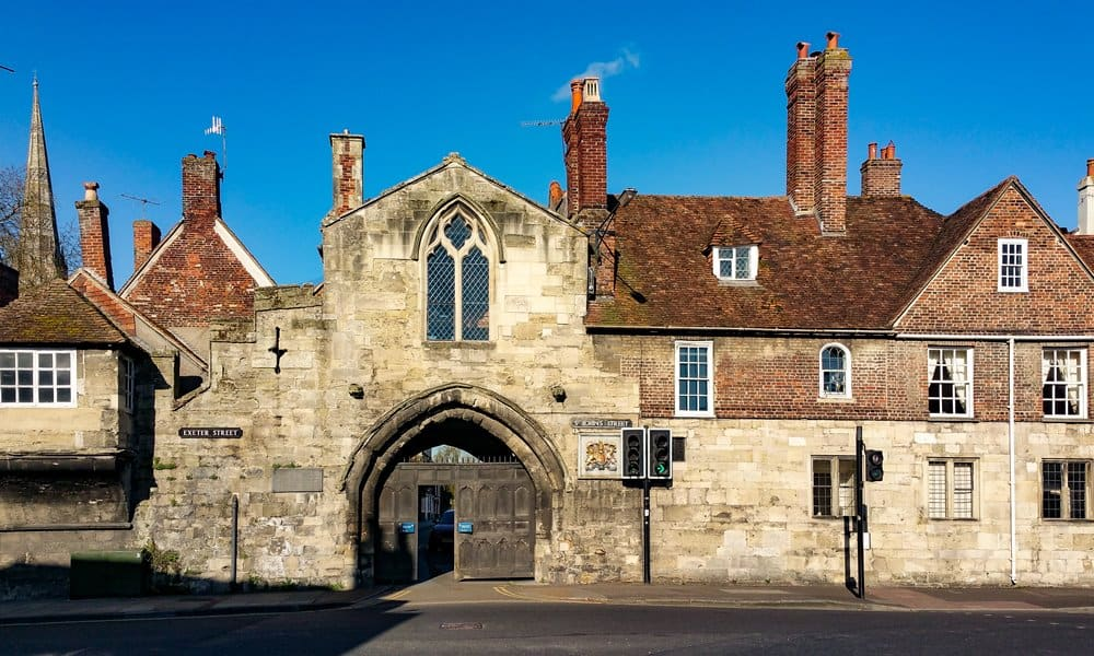 St Ann's Gate - one of four gates to Cathedral Close in Salisbury.