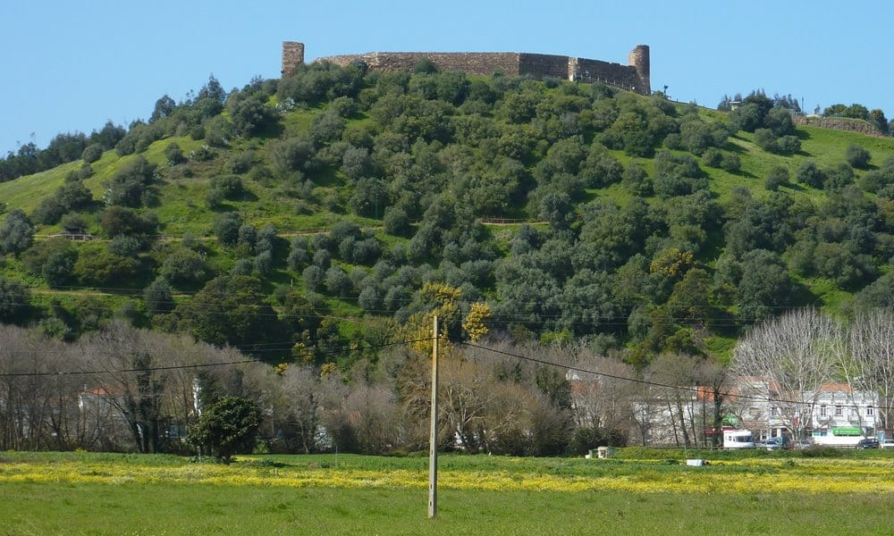 View of Aljezur Castle from the town of Aljezur.