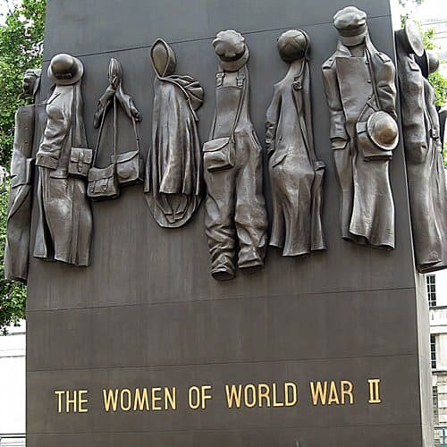 Memorial to the Women that fell in World War II in Whitehall, London.