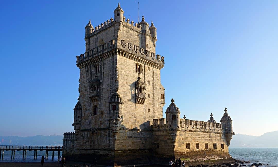 The 16th century Belém Tower in Lisbon, Portugal.