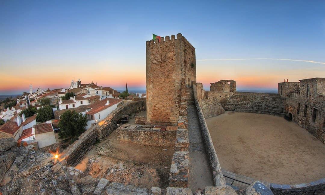 The Castle keep at Monsaraz in the Alentejo region of Portugal.