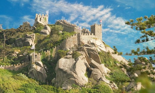 The Castle of the Moors in the Lisbon Metropolitan area of Portugal.