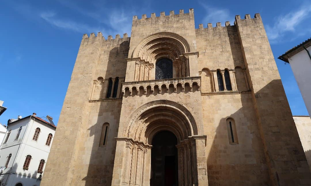 The Romanesque Roman Catholic Cathedral in Coimbra, Central Portugal.