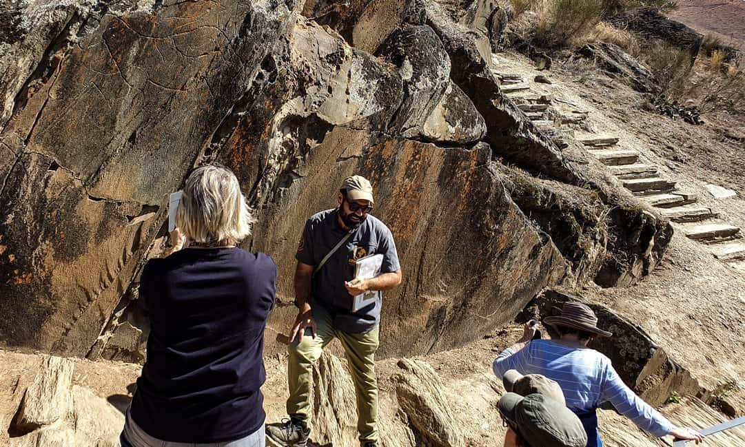 A guided tour of the rock art in the Côa Valley, Portugal.