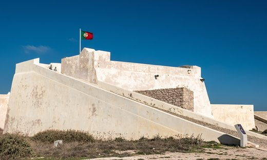 The 15th century Fortaleza de Sagres, a defensive fort.