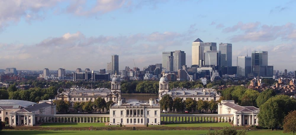 The UNESCO listed Greenwich Park, London.