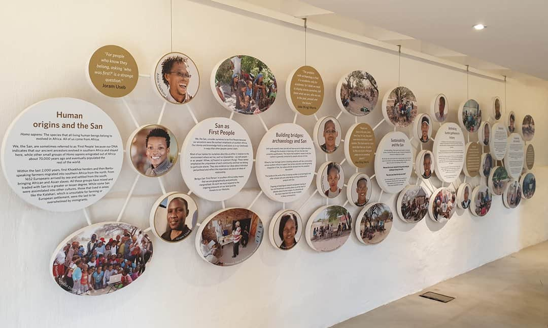 One of the many displays in the !Khwa-ttu San Heritage and Education Centre.