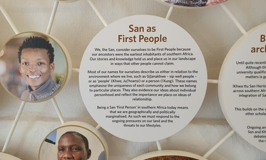 San as first people in South Africa.