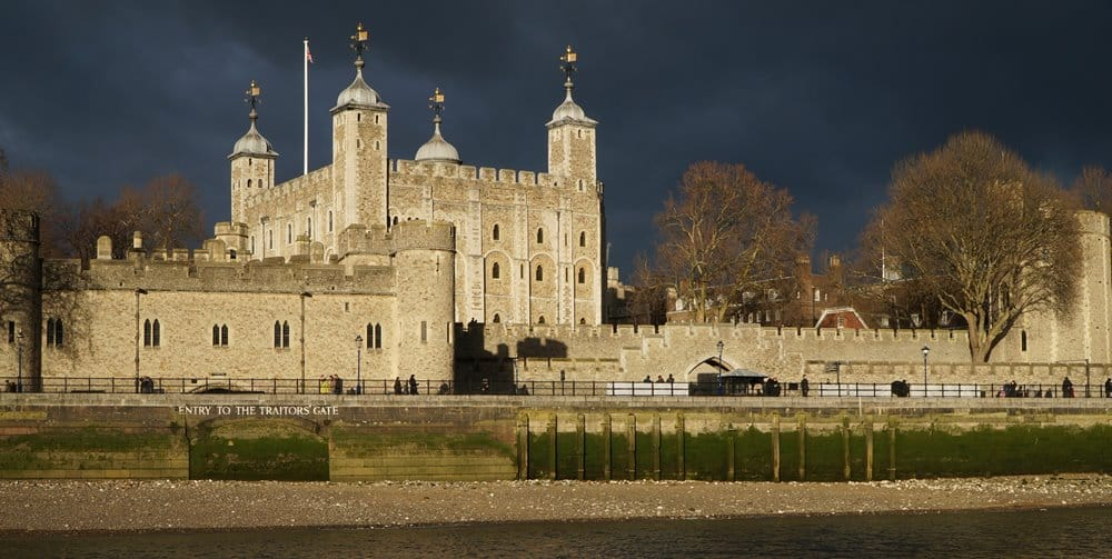 The 'White Tower' of the Tower of London.