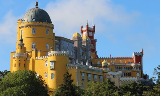 The Romantic 18th century Sintra Palace, Portugal.