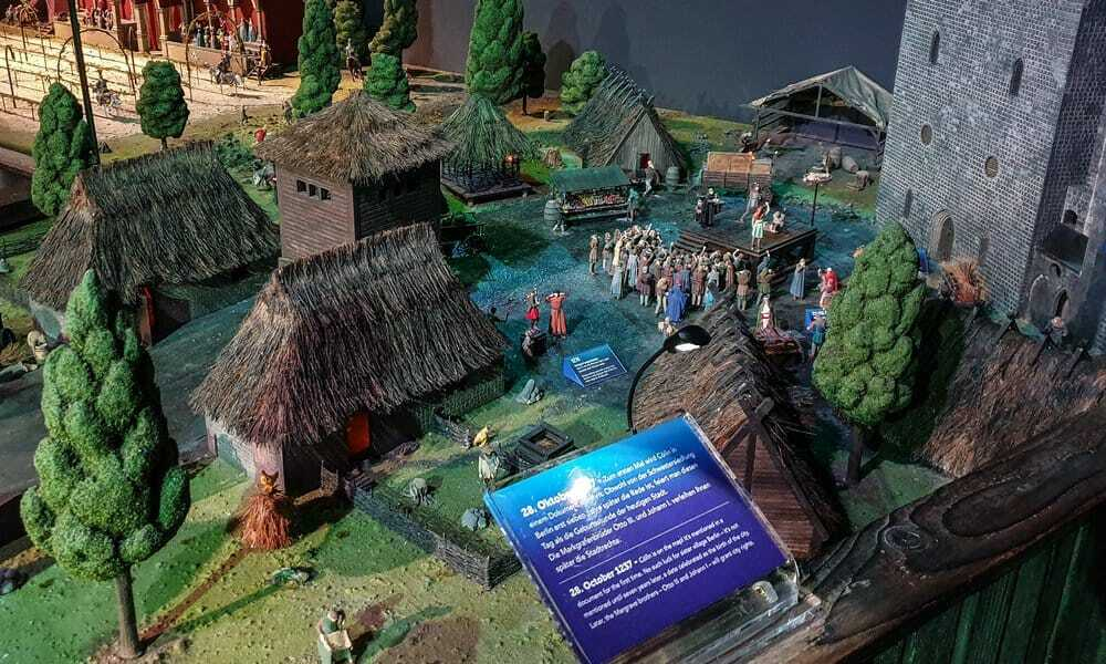 A reconstruction of a Slavic settlement in Berlin.