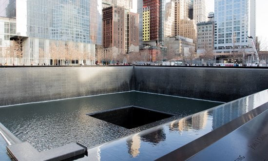 The 9/11 Memorial in New York City.