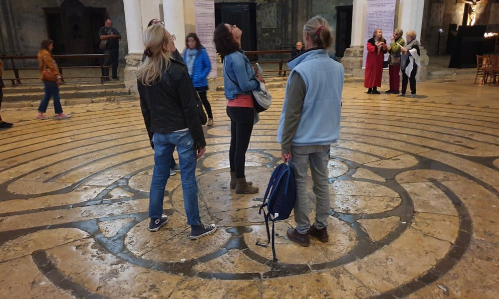The Labyrinth on the floor of Chartres Cathedral.