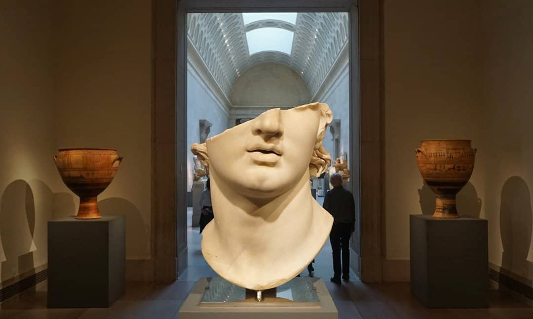 A classical gallery at the Met Museum in New York.
