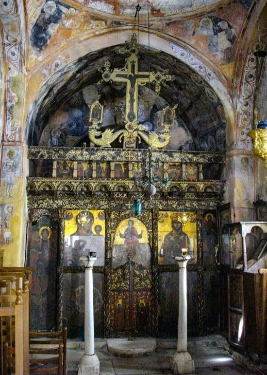 The Iconostasis in St. John the Theologian Church, Nouassa.