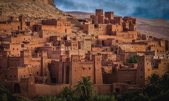 The UNESCO listed ighrem of Aït Benhaddou, Morocco.