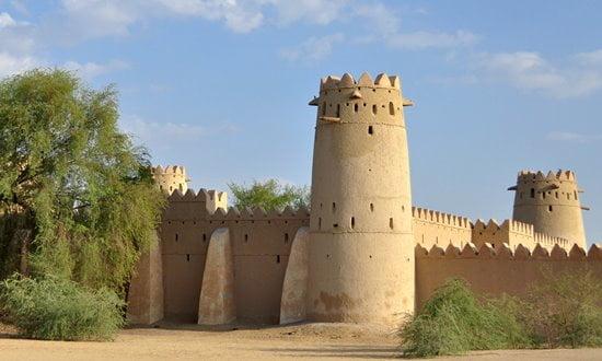 The late 19th century Al-Jahili Fort in Al Ain, Abu Dhabi.