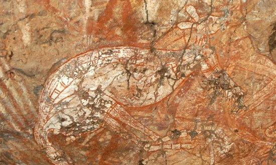 Aboriginal rock painting in the Kakadu National Park, Australia.