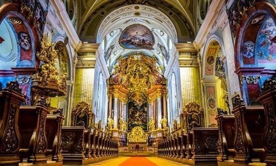 The spectacular Baroque cathedral in Krems an der Donau, Austria.