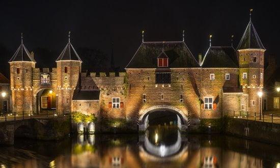 The medieval gate known as Koppelpoort in the Dutch town of Amersfoort.