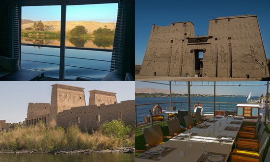 Views from the Oberoi Philae while cruising on the Nile River, Egypt