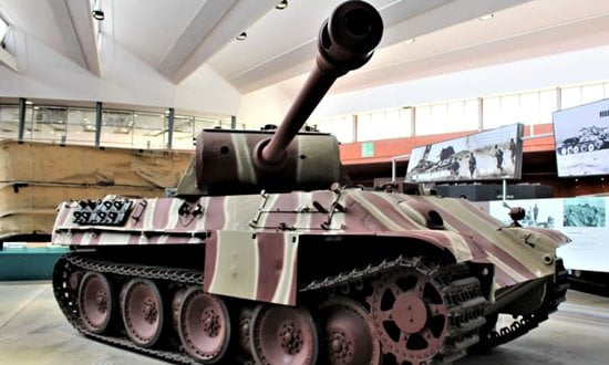 Panther tank on display in the Bovington Tank Museum, England