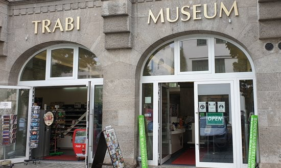 The entrance to the Trabi Museum in Berlin, Germany.