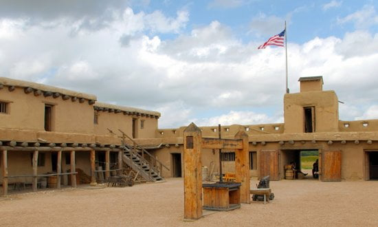 A reconstructed Bent's Old Fort in Colorado.