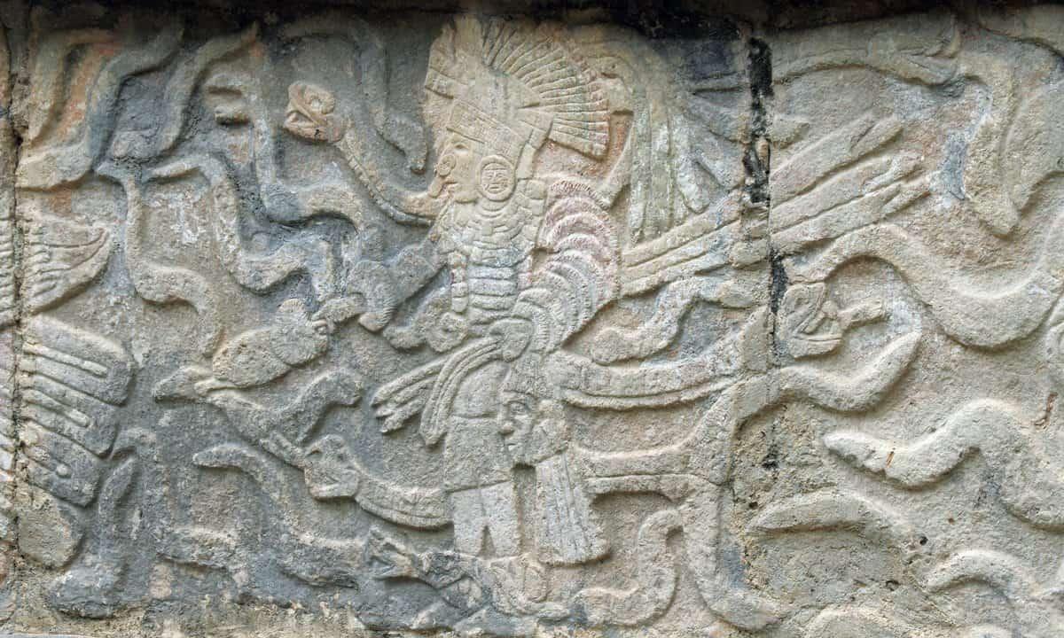 Mayan glyphs at Chichen Itza.