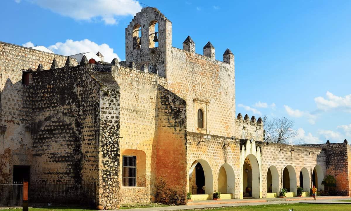 The Convent of San Bernardino de Siena in Valladolid, Yucatan peninsular in Mexico.