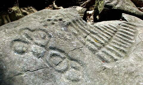 Petroglyphs at the site of La Pila del Rey in Nayarit, Mexico.