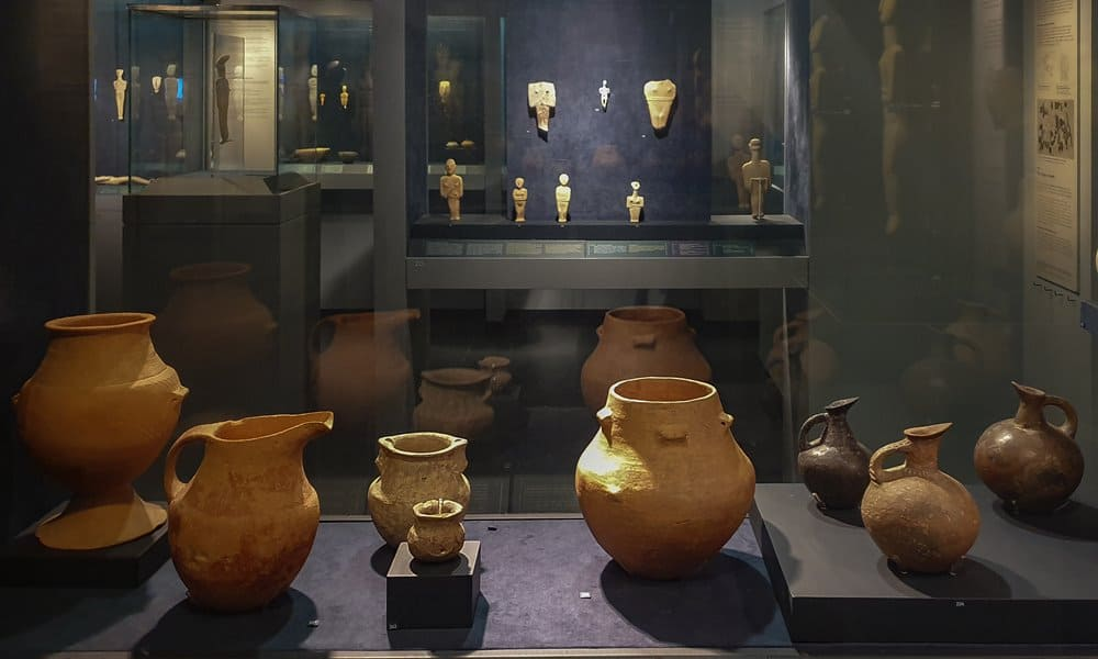The Cycladic Culture Gallery at the Museum of Cycladic Art, Athens.