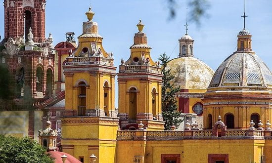 Spanish Baroque architecture from the 16th century at Querétaro in Mexico.