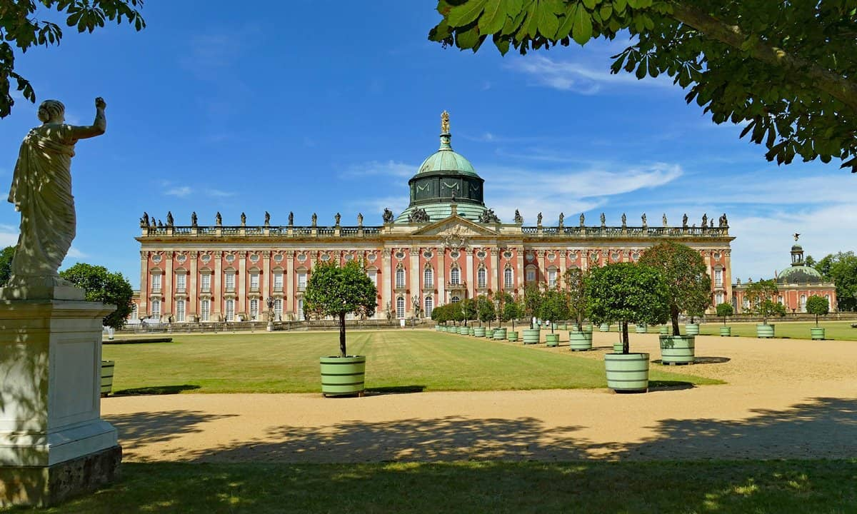The Baroque style Nymphenburg Palace in Munich, Germany.