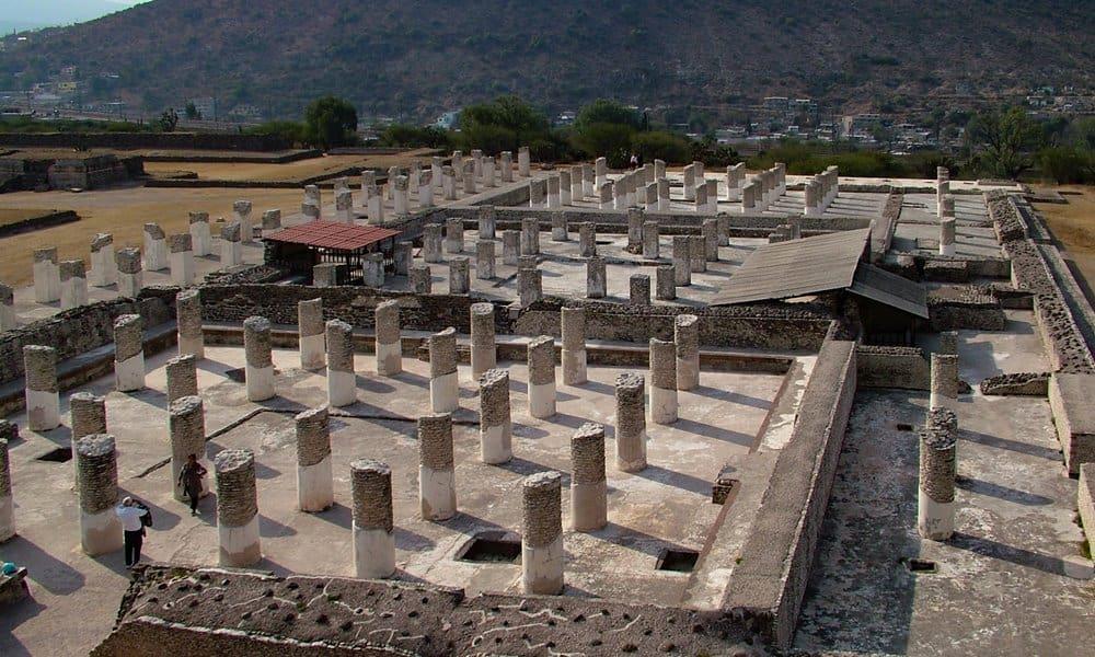 Remains of the so-called 'Burned Palace' at Tula.