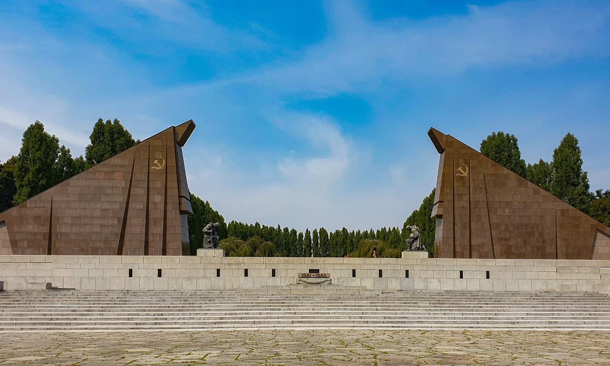 Part of the Soviet Memorial in Treptower Park, Berlin.