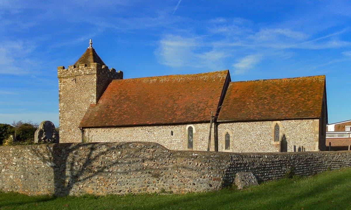 The 11th century St Helen's Church in Hangleton, Brighton & Hove.