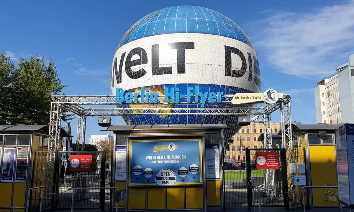 The iconic Welt-Balloon in Berlin.