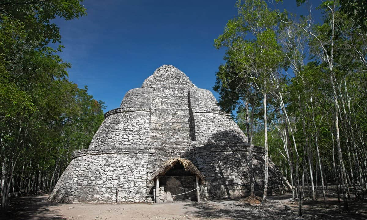 The Mayan pyramid at Coba.